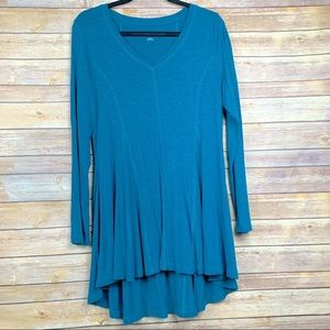 Soft Surroundings Long Sleeve A-Line Tunic Top